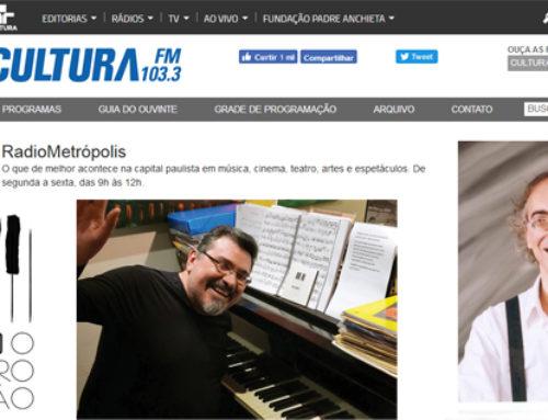 Entrevista ao Programa RadioMetrópolis da Cultura FM